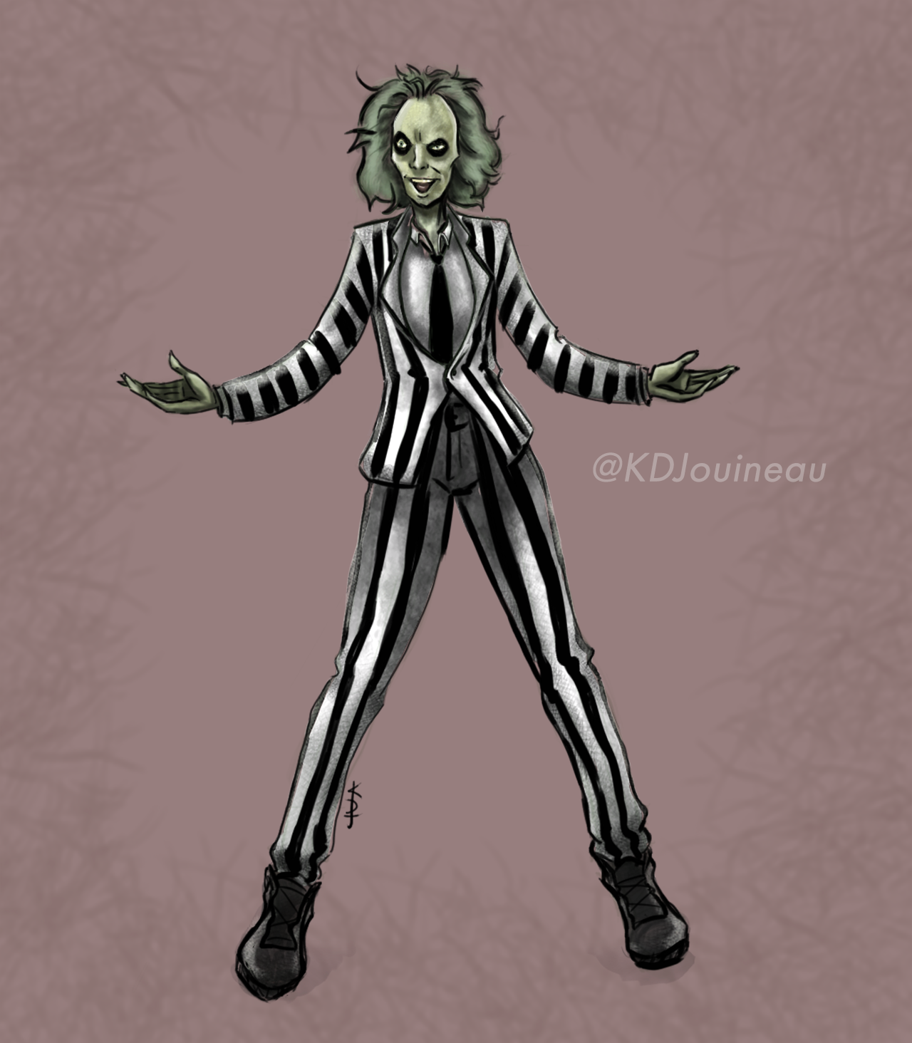 Beetlejuice: Artwork by KDJouineau