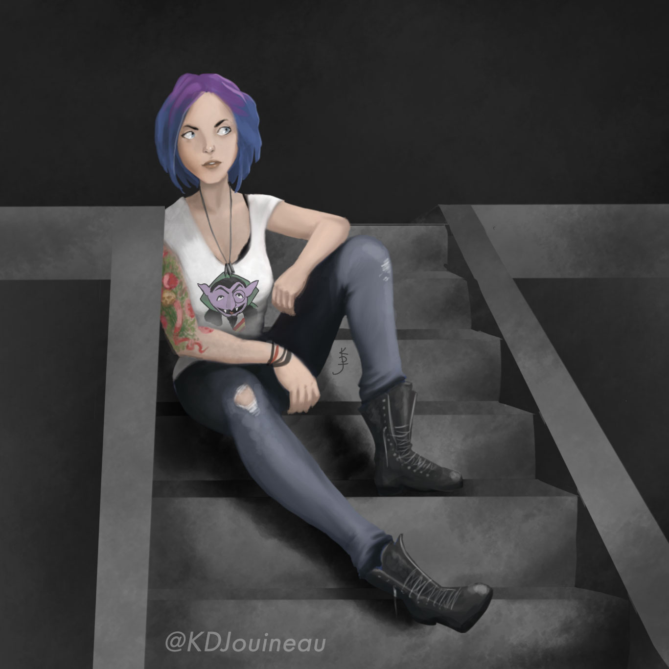 Chloe - Life is Strange: Artwork by KDJouineau