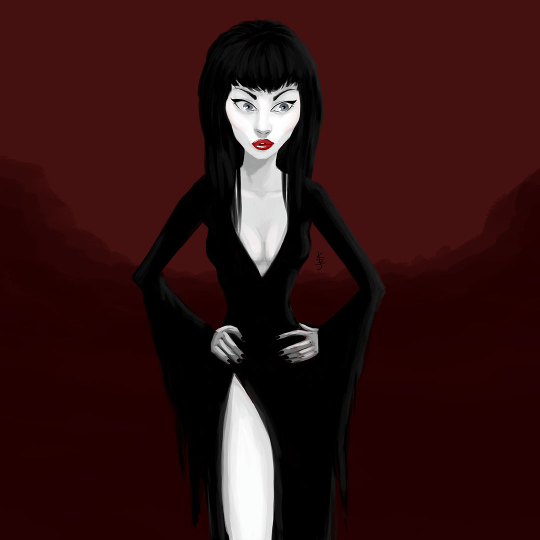 Mistress of the Dark - Elvira: Artwork by KDJouineau