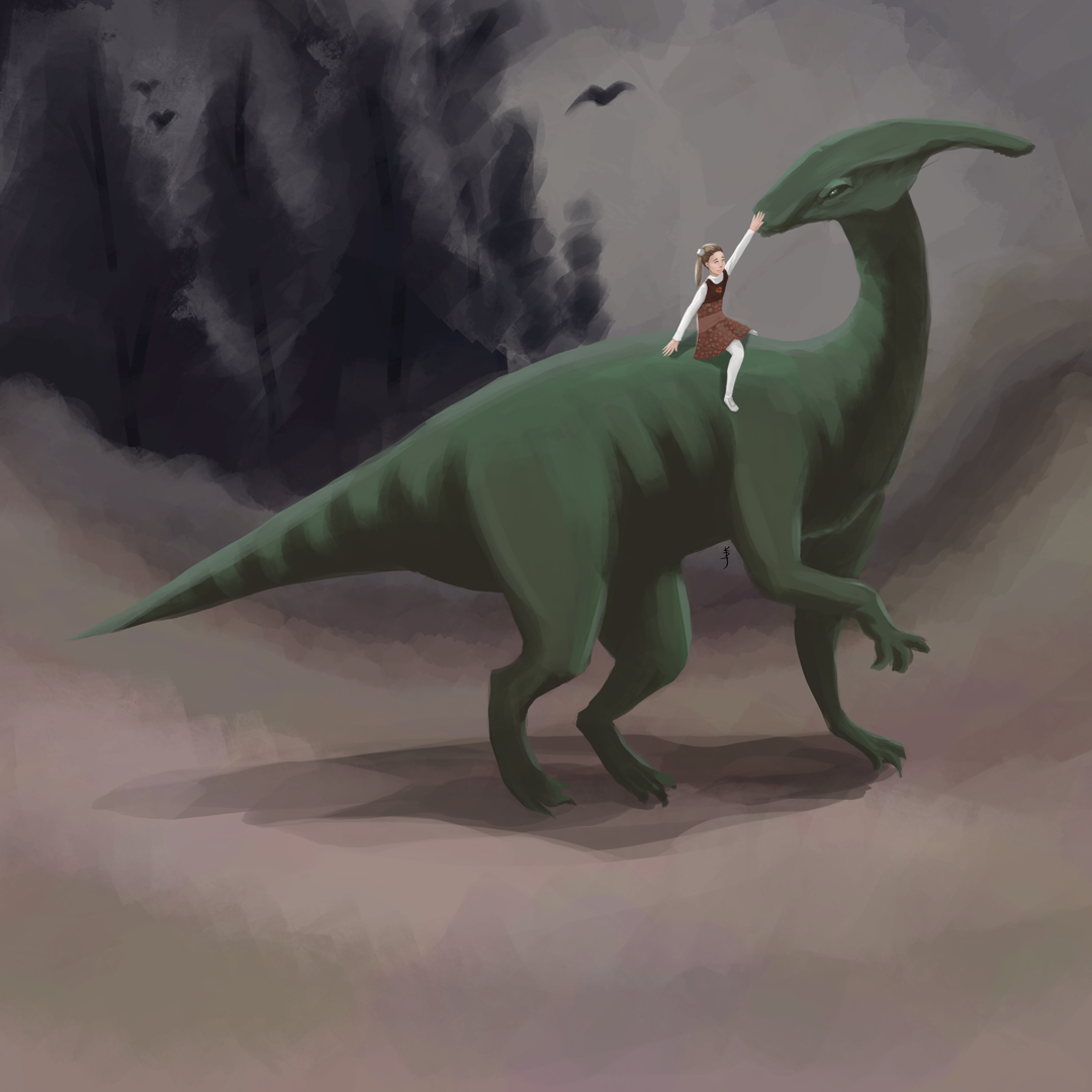 Parasaurolophus: Artwork by KDJouineau