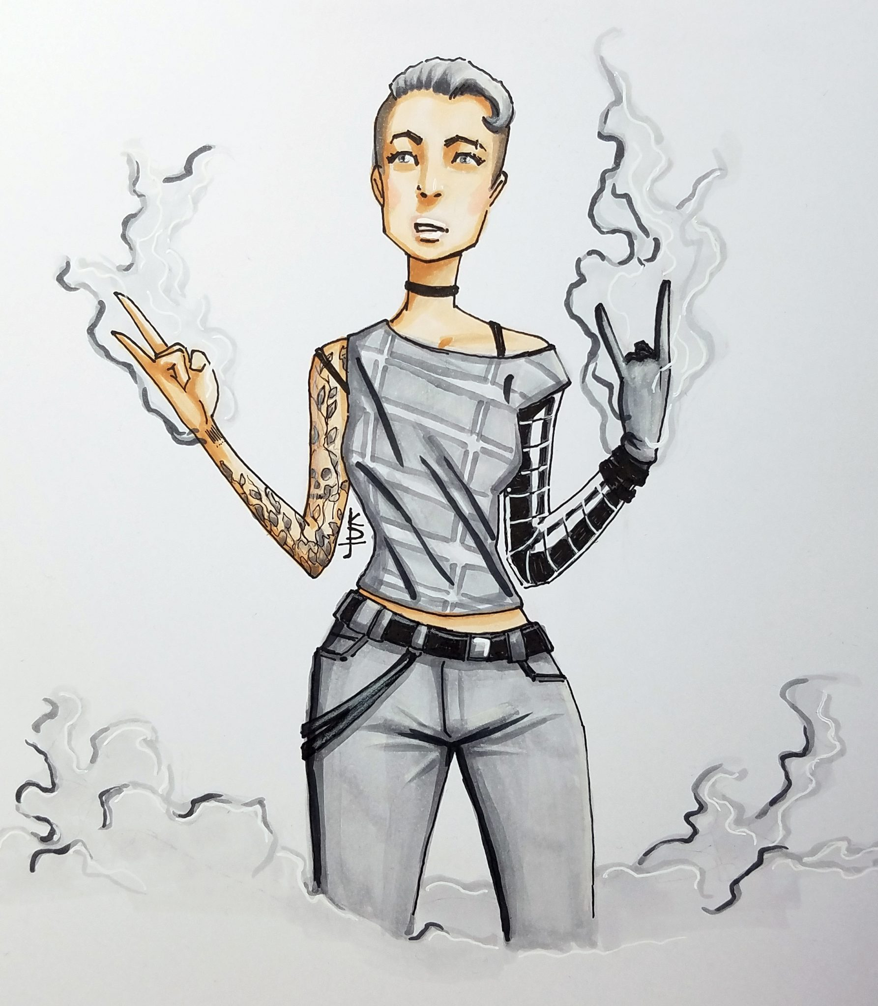 Smokin': Artwork by KDJouineau