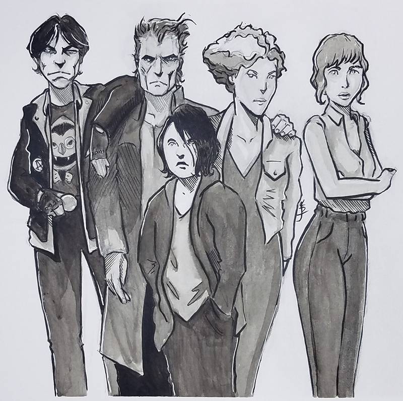 Inktober 3 Vamily by KDJouineau